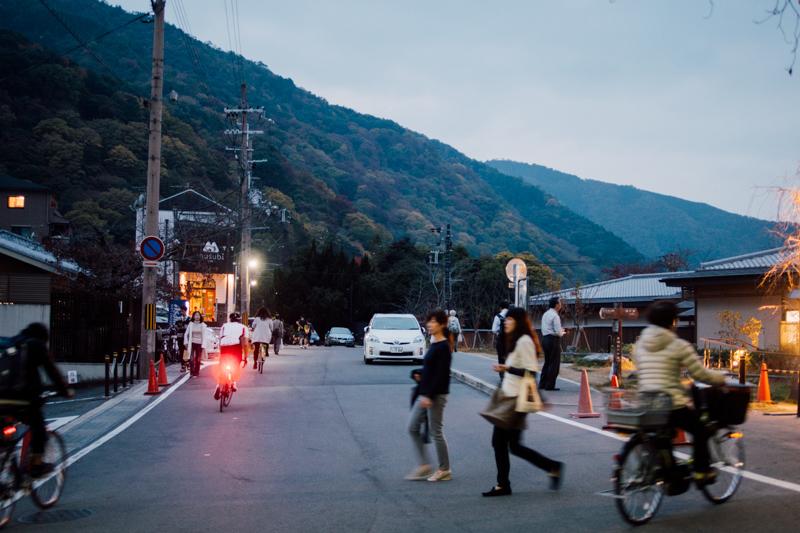 京都嵐山 黃昏 京都單車旅遊攻略 - 日篇 京都單車旅遊攻略 – 日篇 PB070109