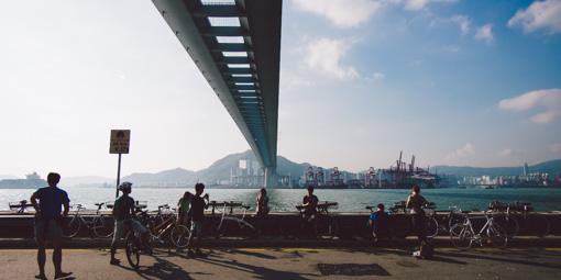 本地單車美景#003 昂船洲大橋橋底