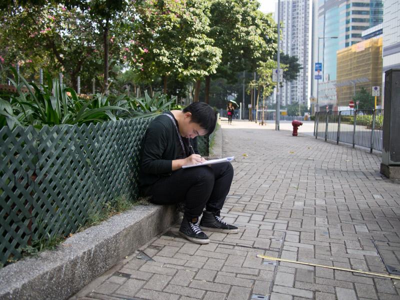 籌旗。香港市區單車代步研究 P1080513